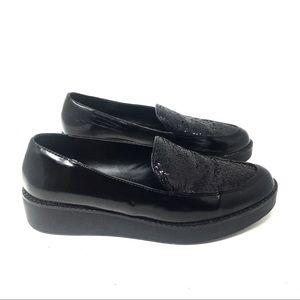 Design Lab Black Loafers 8